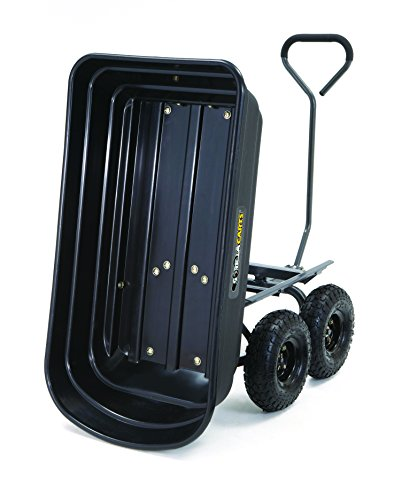 Gorilla Carts GOR4PS Poly Garden Dump Cart with Steel Frame and 10-in Pneumatic