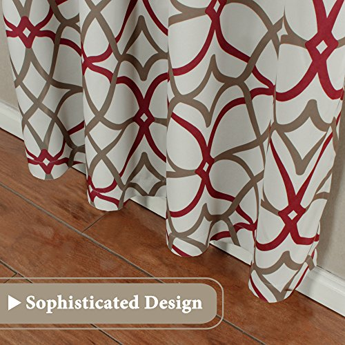 H.VERSAILTEX Blackout Curtain Panels 84 for Living Room/Bedroom -  Functional Geo Trellis Window Treatment Thermal Insulated Grommet Curtains  ...