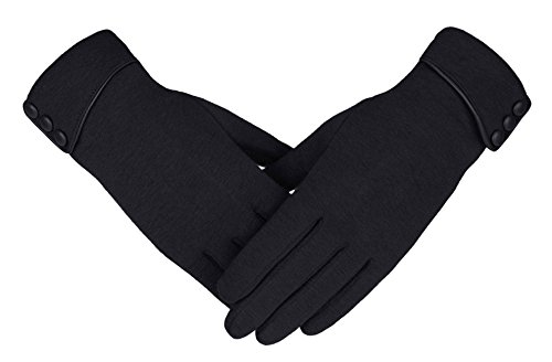 e3b1d61fe48 Knolee Women s Screen Gloves Warm Lined Thick Touch Warmer Winter ...