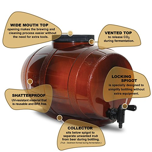 Mr  Beer 2 Gallon Complete Beer Making Kit Perfect for Beginners, Designed  for Quick and Efficient Homebrewing, Premium Gold Edition