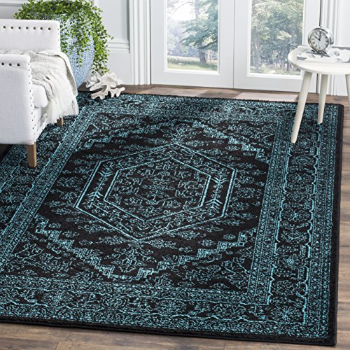 Brand-new Safavieh Adirondack Collection ADR108K Black and Teal Oriental  DS62