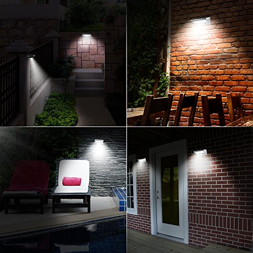 Solar Wall Lights Opernee 21 Led Bright Outdoor Solar