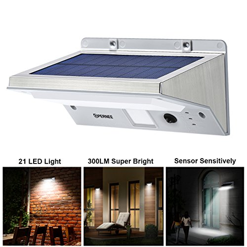 Small Garden Solar Spot Lights: Solar Wall Lights, OPERNEE 21 LED Bright Outdoor Solar