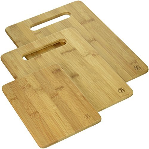 Totally Bamboo 3 Piece Bamboo Serving And Cutting Board Set Tag Level