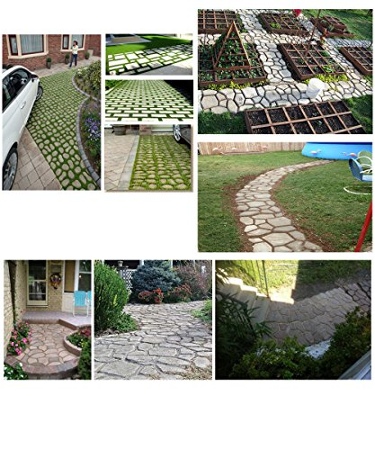 WOVTE DIY Walk Maker Concrete Stepping Stone Mold Garden ...