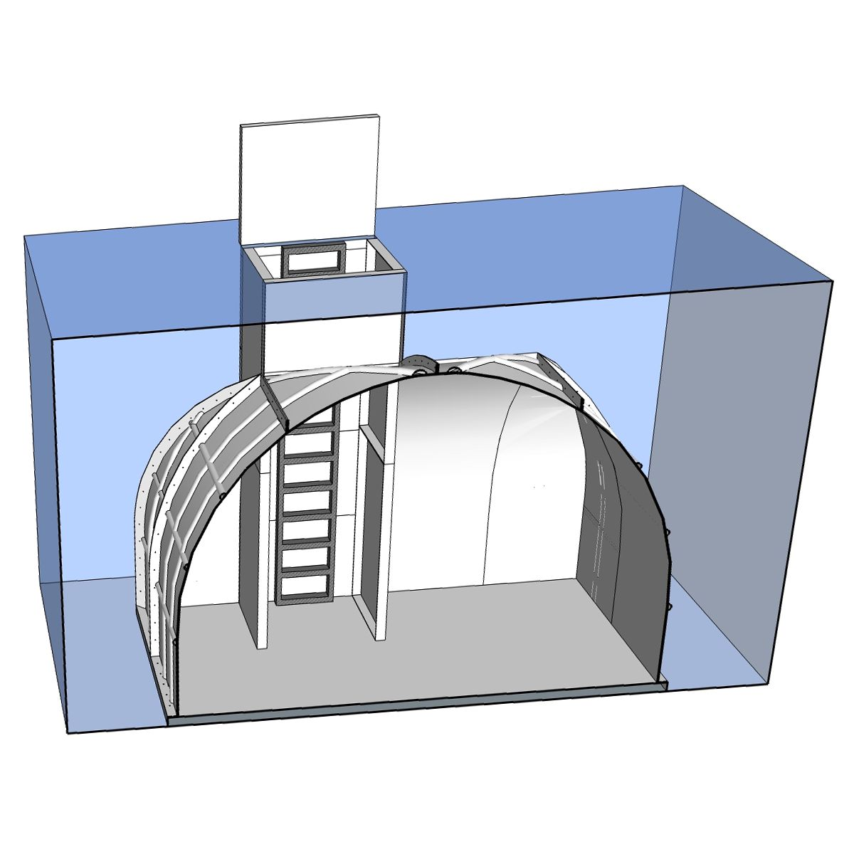 Compass Green - FRP Homes - Underground Shelter 225 sq.ft