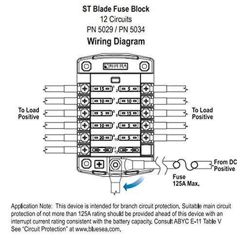 Blue Sea Systems St Blade Ato Atc Fuse Blocks Tag Level