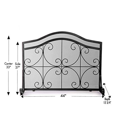 Plow Amp Hearth Crest Fireplace Screen Solid Wrought Iron