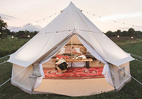 Super Dream House Luxury Outdoor Waterproof Four Season Family Camping And Winter Glamping Cotton Canvas Yurt Bell Tent With Mosquito Screen Door And Home Remodeling Inspirations Genioncuboardxyz