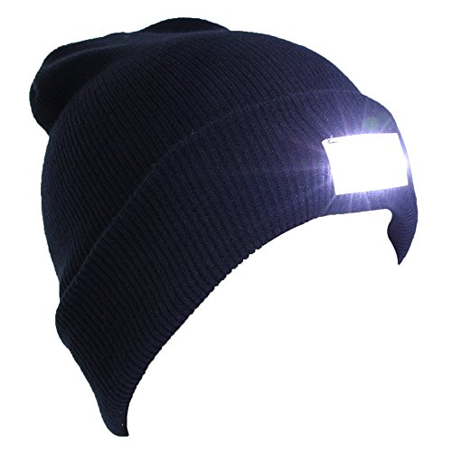 adb1fcaf64abbc EZGO 5 LED Hands Free Unisex Lighted Beanie Power Stocking Cap/Hat, Perfect  Hands Free Flashlight for Hunting, Camping, Grilling, on/off Switch Hidden  in ...