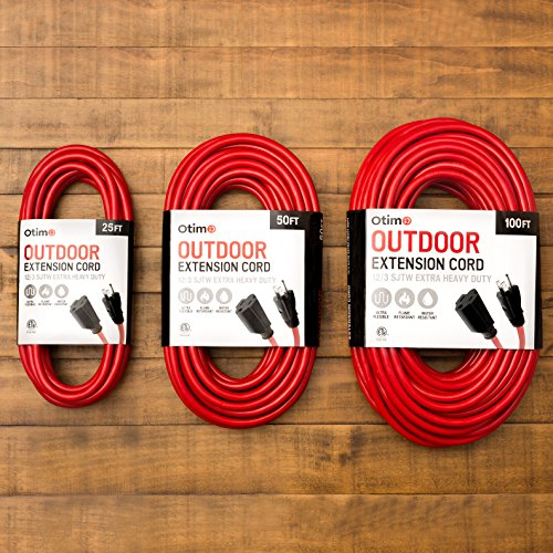 Otimo 100 Ft 12 3 Outdoor Extra Heavy Duty Extension Cord