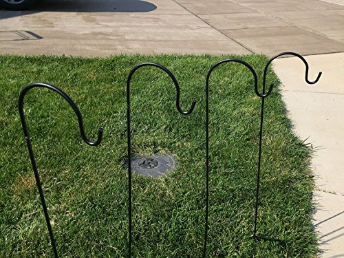 Amazing Premium Metal Shepherd Hooks, Solar Light Garden ...