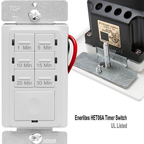 ENERLITES Countdown Timer Switch for bathroom fans and ...