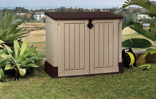 keter store it out midi 4 3 x 2 5 outdoor resin horizontal storage shed tag level. Black Bedroom Furniture Sets. Home Design Ideas