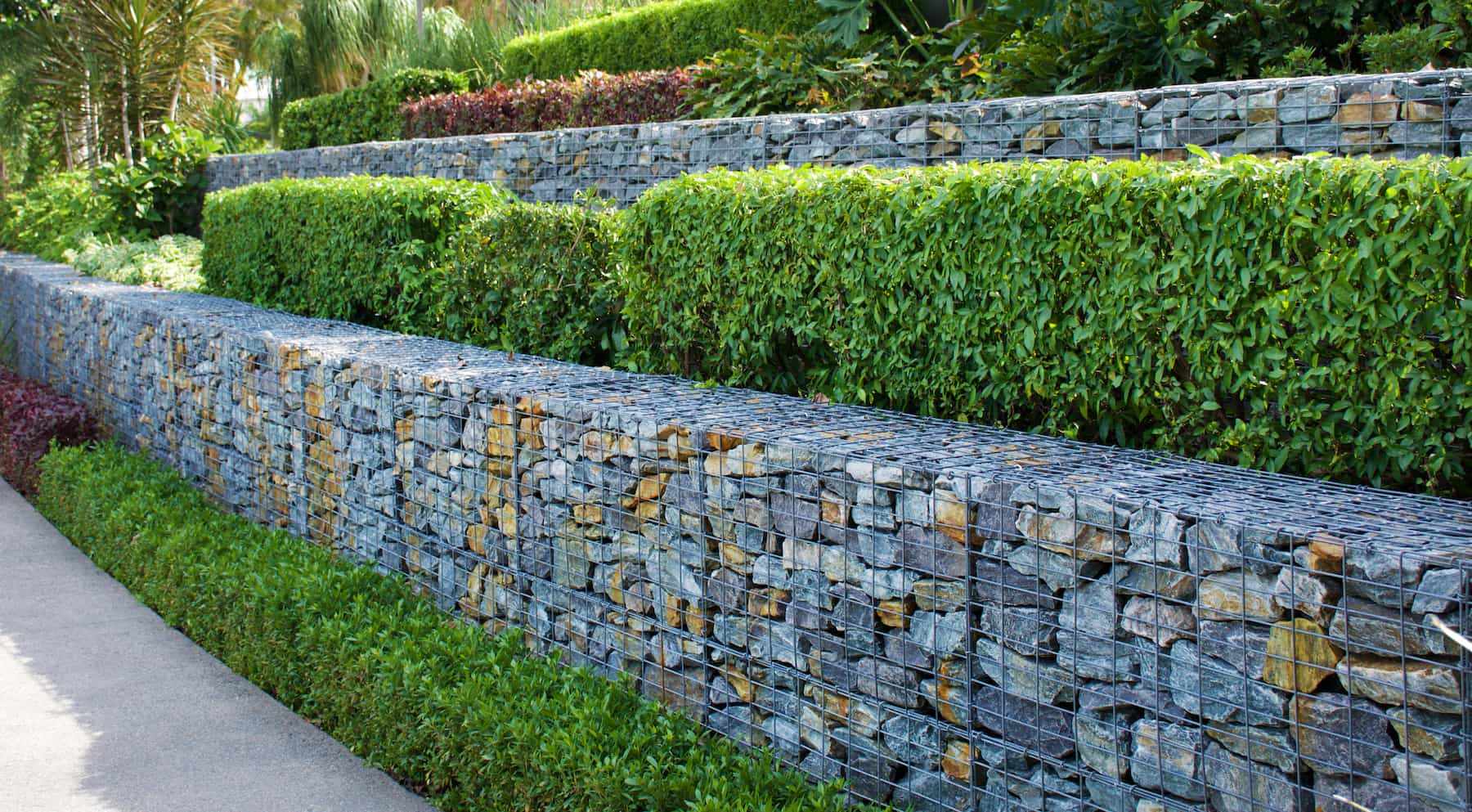 Gabion Wall in Garden - TAG Level