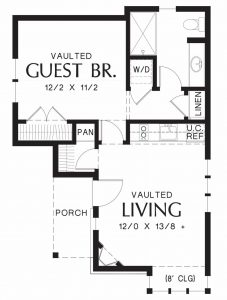 Small Cottage - tiny house floor plans - TAG Level